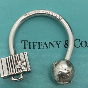 Tiffany & Co. 925 Passport Globe Key Chain